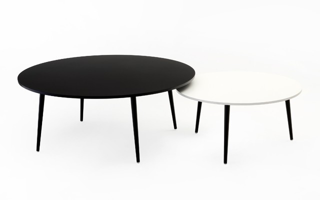 Soho round coffee table archetypal - Table basse brun noir ...