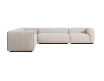 Cleon Large Sectional Sofa Craig Sand